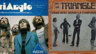 Deux pochettes de disque du groupe Triangle.  (DR)
