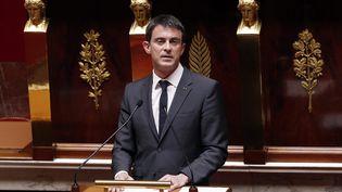 Le Premier ministre, Manuel Valls, à l'Assemblée nationale, le 13 avril 2015. (FRANÇOIS GUILLOT / AFP)