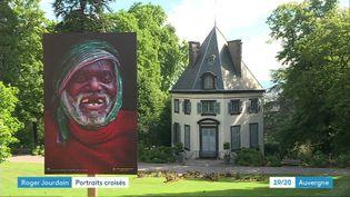 L'un des clichés de Robert Jourdain exposé au parc Bargoin, Chamalières (Puy-de-Dôme). (France 3 Auvergne)