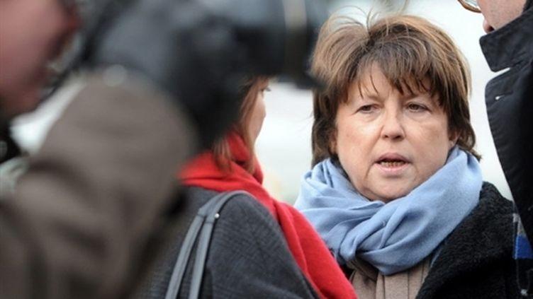 Martine Aubry, première secrétaire du Parti socialiste et maire de Lille, le 01 décembre 2010, à Lille. (AFP - Philippe Huguen)