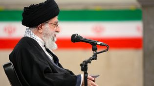Le Guide suprême iranien, Ali Khamenei, lors d'un discours à Téhéran (Iran), le 7 février 2021. (HO / KHAMENEI.IR / AFP)