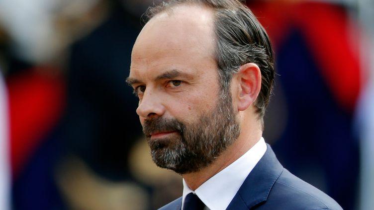 Edouard Philippe, lors de la passation de pouvoir à Matignon, à Paris, le 15 mai 2017. (CHARLES PLATIAU / REUTERS)