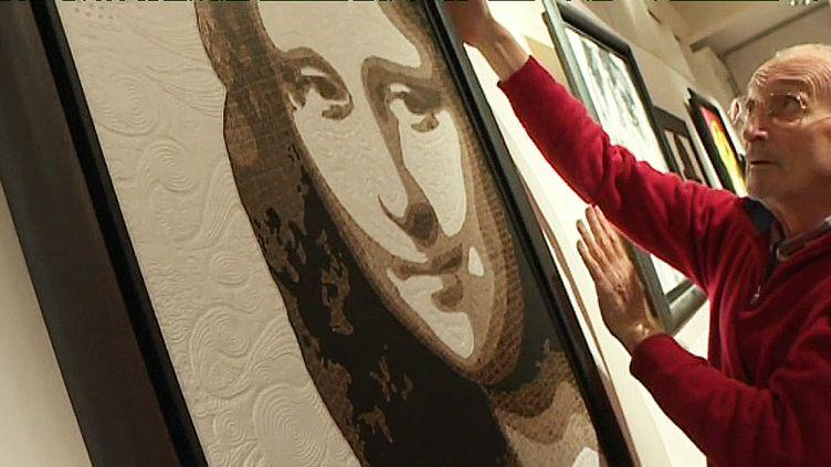 """""""Mona Lisa"""", de Guy Wilga Lerat, exposée à l'Hôtel Rochegude à Albi.  (France 3 / Culturebox)"""