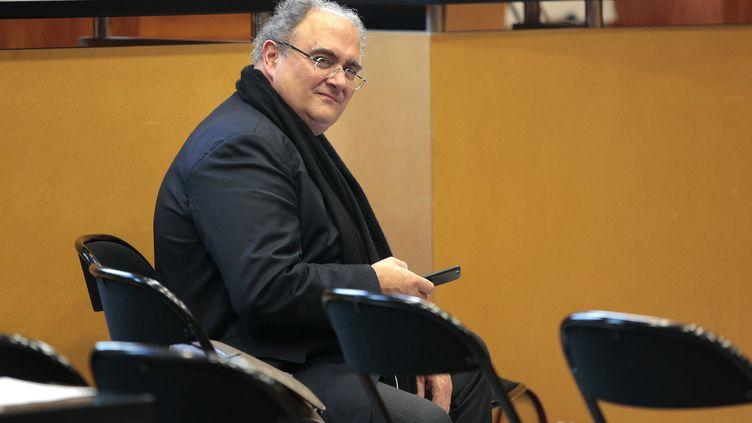 Le député de Haute-Corse Paul Giacobbia été condamné pour détournement de fonds publics. Ici, le 1er décembre 2016 à au tribunal de Bastia. (PASCAL POCHARD-CASABIANCA / AFP)