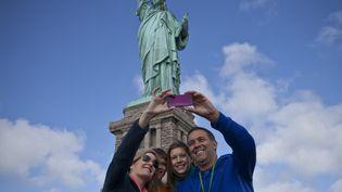 13 octobre 2013 réouverture de la statue de la Liberté à New York (KENA BETANCUR / GETTY IMAGES )