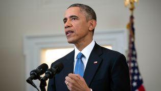 Barack Obama, le 17 décembre 2014 à la Maison Blanche (Washington, Etats-Unis). (DOUG MILLS / POOL)