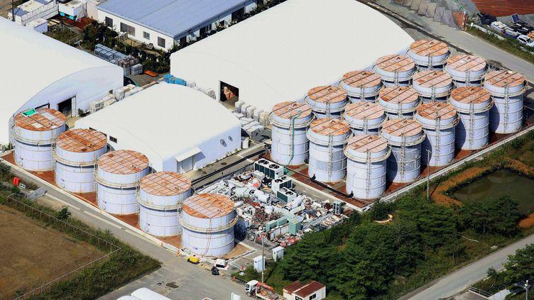 La centrale nucléaire de Fukushima (Japon), accidentée en mars 2011, photographiée ici le 3 octobre 2013, théâtre d'incidents à répétition. (NEWSCOM / SIPA )