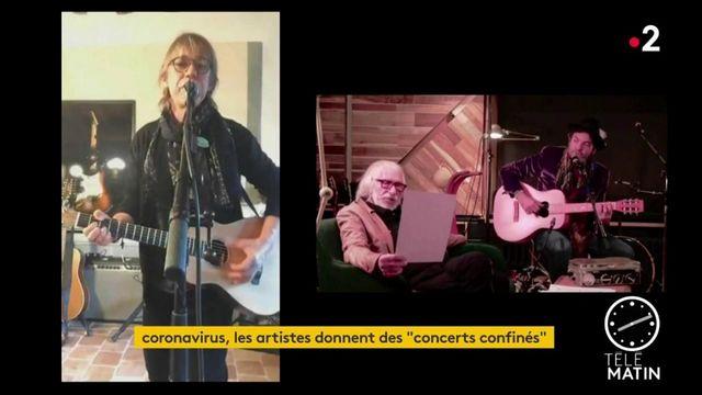 """Coronavirus : à défaut de scènes, des artistes livrent des """"concerts confinés"""""""