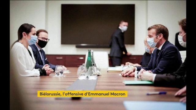 Biélorussie : Tikhanovskaïa satisfait de sa rencontre avec Macron