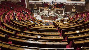 A l'Assemblée nationale, lors des questions au gouvernement, le 24 mars 2021. (MAGALI COHEN / HANS LUCAS / AFP)