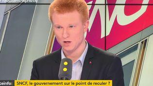 AdrienQuatennens, député de La France Insoumise de la 1ère circonscription du Nord, invité de franceinfo jeudi 17 mai. (RADIO FRANCE / FRANCE INFO)