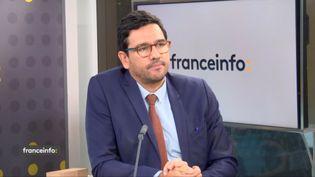 Sébastien Soriano, président de l'Arcep, invité de franceinfo jeudi 19 novembre 2020. (FRANCEINFO / RADIO FRANCE)