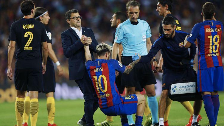 Lionel Messi était sorti lors du match face à l'Atletico Madrid le 21 septembre dernier (ALEJANDRO GARCIA / EFE)