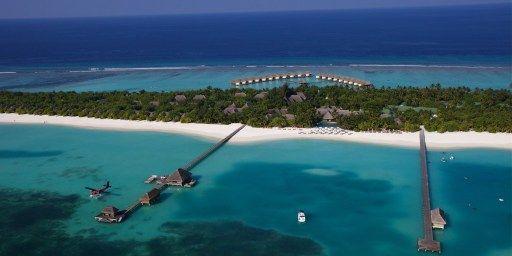 Maldives, la carte postale : Lhaviyani Atoll, Kanuhura Hotel (LESLIE WEST / PHOTONONSTOP/AFP)