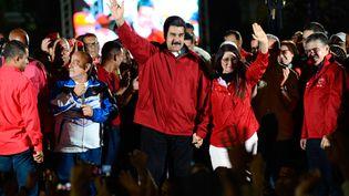 Le président venezuelien Nicolas Maduro avec sa femme Cilia Flores après le vote de l'Assemblée constituante, à Caracas, le 31 juillet 2017. (MANU QUINTERO / DPA)