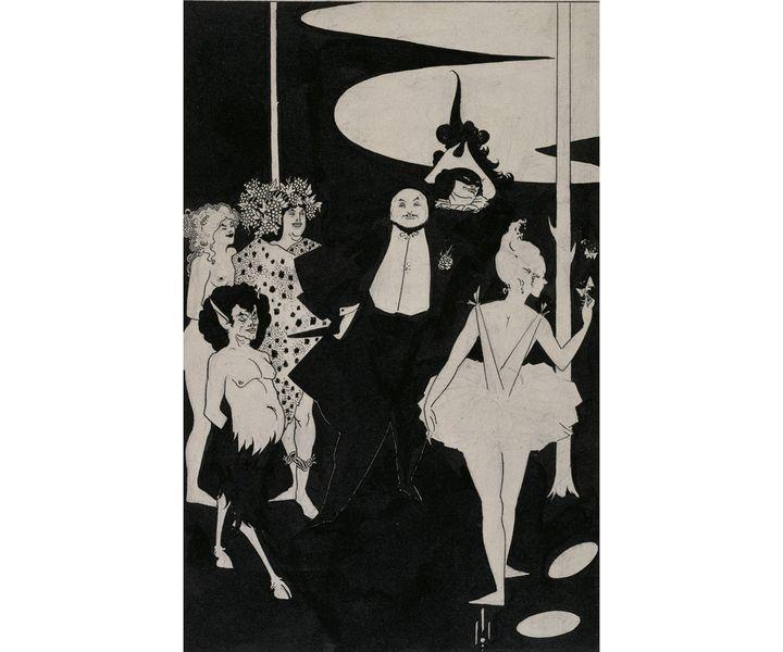 Aubrey Beardsley, Projet pour le frontispice des pièces de John Davidson, Royaume-Uni, Londres, Tate Collection (©Tate, Londres, Dist. RMN-Grand Palais / Tate Photography)
