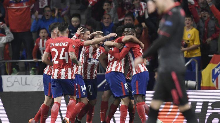 Troisième finale d'Europa League pour l'Aletico Madrid (GABRIEL BOUYS / AFP)