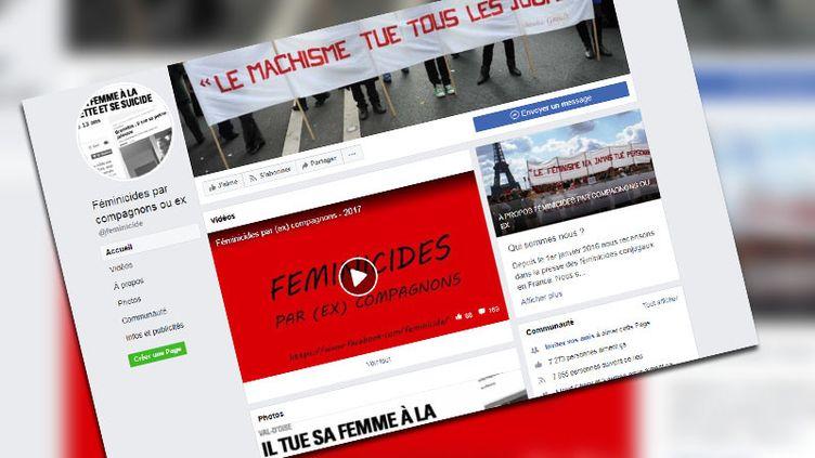 """Le groupe Facebook""""Féminicides par compagnons ou ex""""dénonce les féminicides en France. (CAPTURE ECRAN FACEBOOK)"""