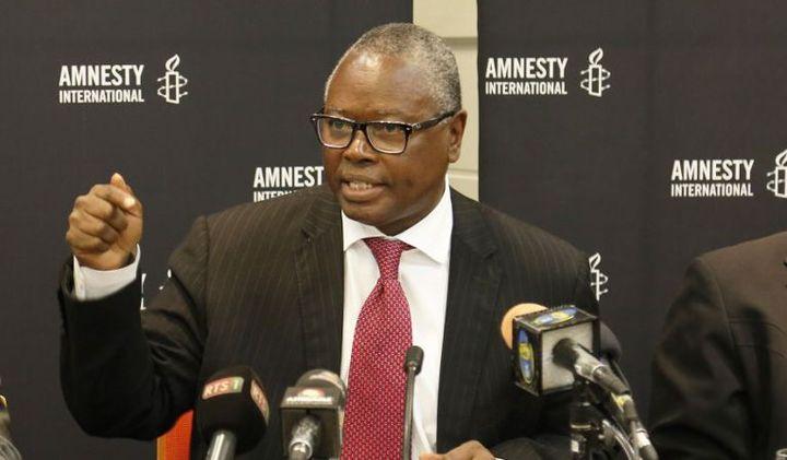 Alioune Tine, directeur du bureau régional d'Amnesty International pour l'Afrique de l'Ouest et du Centre basé à Dakar au Sénégal (Photo AFP/Cemil Oksuz/Anadolu Agency)