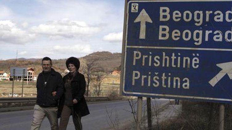 Dans la ville de Mitrovica, au nord du Kosovo. La ville est divisée entre communautés albanophone et serbe. (Reuters - Hazir Reka)