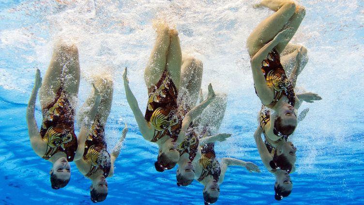 L'équipe russe de natation synchronisée (DAMIEN MEYER / AFP)