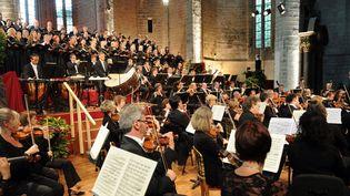 Jacques Mercier dirige le Requiem de Verdi  (MAXPPP/REMY PERRIN )