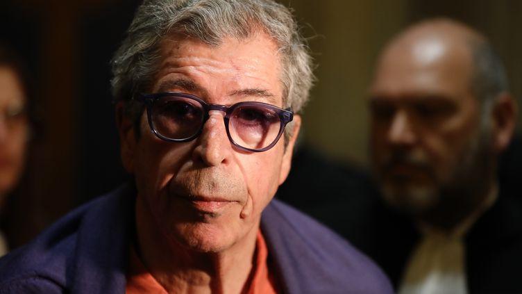 Patrick Balkany, le 27 mai 2020 à la cour d'appel de Paris. (THOMAS SAMSON / AFP)