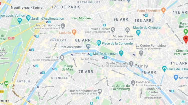Le Saint-Sauveur, un bar du 20e arrondissement de Paris. (GOOGLE MAPS)