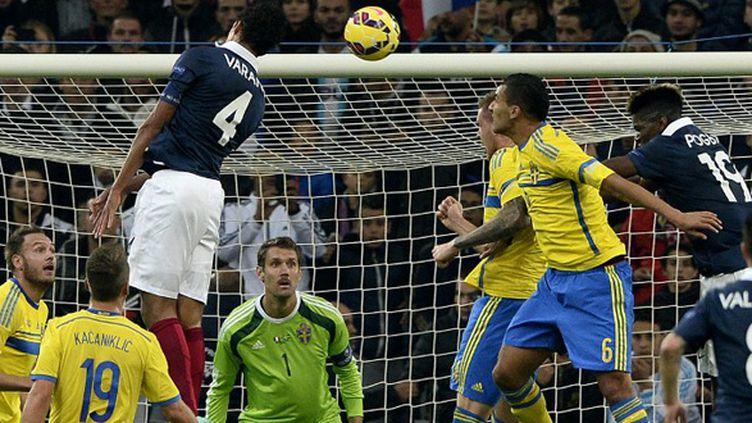 Le but de Varane face à la Suède (FRANCK FIFE / AFP)