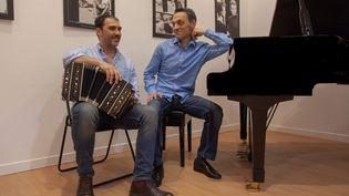 Le bandonéoniste Daniele di Bonaventura et le pianiste Giovanni Ceccarelli (EMILIA DE LEONARDIS)