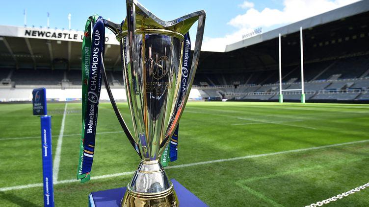 Le trophée de la Champions Cup, le 10 mai 2019. (GLYN KIRK / AFP)