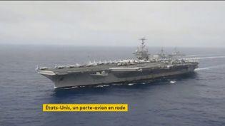 Un porte-avion américain (FRANCEINFO)