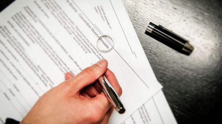 Convention de divorce par consentement mutuel (photo d'illustration) (SALESSE FLORIAN / MAXPPP)