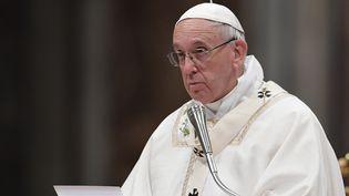 Le pape François à Rome, le 15 avril 2017. (TIZIANA FABI / AFP)