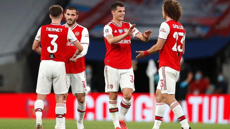 Les joueurs d'Arsenal après leur victoire  (MATTHEW CHILDS/NMC POOL / MAXPPP)