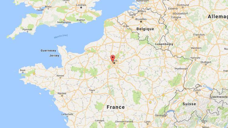 Capture d'écran d'une carte pointant Boulogne-Billancourt (Hauts-de-Seine), où un incendie s'est déclaré dans un centre de travailleurs de migrants, le 16 décembre 2016. (GOOGLE MAPS)
