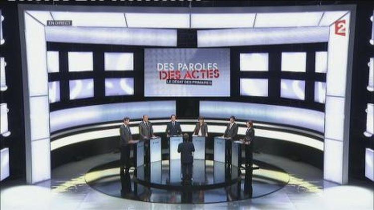 Les six candidats à la primaire PS (France Télévisions)