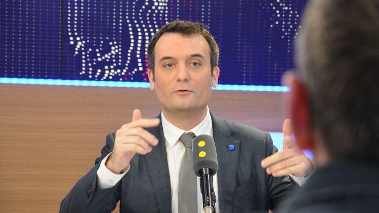 Florian Philippot,vice-président du FN. (RADIO FRANCE / JEAN-CHRISTOPHE BOURDILLAT)