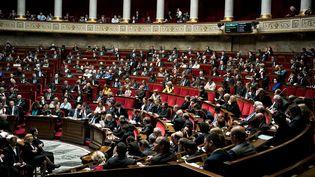À l'Assemblée nationale, vue Hémicycle lors des questions au gouvernement (3 avril 2018)  (Nicolas Messyasz / Sipa)