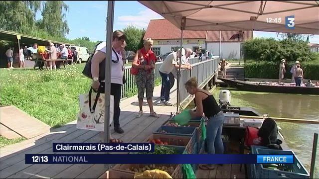 Pas-de-Calais : le succès du marché flottant de Clairmarais