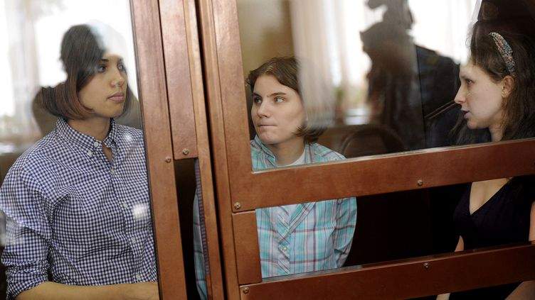 Le parquet de Moscou a requis trois ans de détention à l'encontre des chanteuses punk des Pussy Riot, le 7 août 2012. (ANDREY SMIRNOV / AFP)