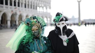 Durant le carnaval de Venise 2020 en Italie. Photo d'illustration. (MIRCO TONIOLO / MAXPPP)