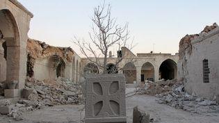 Le musée de mosaïques de Maarat al-Noomane, en Syrie, détruit par un bombardement de l'armée réguilère  (STRINGER / ANADOLU AGENCY)