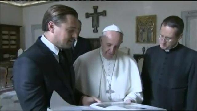 Vatican : le pape François reçoit DiCaprio pour parler de défense de l'environnement