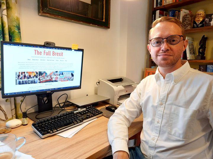 Dr Lee Jones, universitaire et fondateur du site thefullbrexit.com. (RICHARD PLACE / RADIO FRANCE)