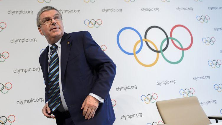 Le président du CIO Thomas Bach (FABRICE COFFRINI / AFP)