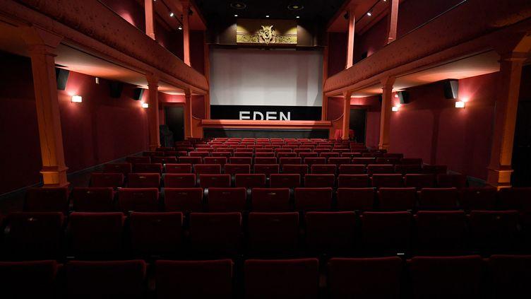 La salle de l'Eden-Théâtre de La Ciotat (Bouches-du-Rhône), plus ancien cinéma en activité selon le Guinness-Book (13 juillet 2021) (NICOLAS TUCAT / AFP)