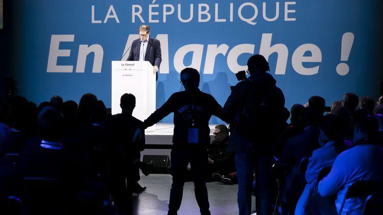 Un meeting de la République en marche, le 1er décembre 2018. (VINCENT ISORE / MAXPPP)