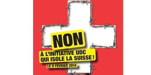 Affiche du parti socialiste vaudois en faveur du «non» au référendum du 9 février. (PS)
