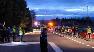 Une collision entre un train et un bus scolaire a fait au moins quatre morts, le 14 décembre 2017, près de Millas (Pyrénées-Orientales). (MAXPPP)
